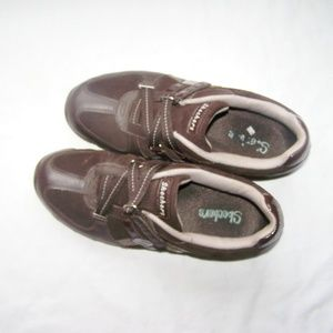 Skechers Chocolate Brown Leather Shoes